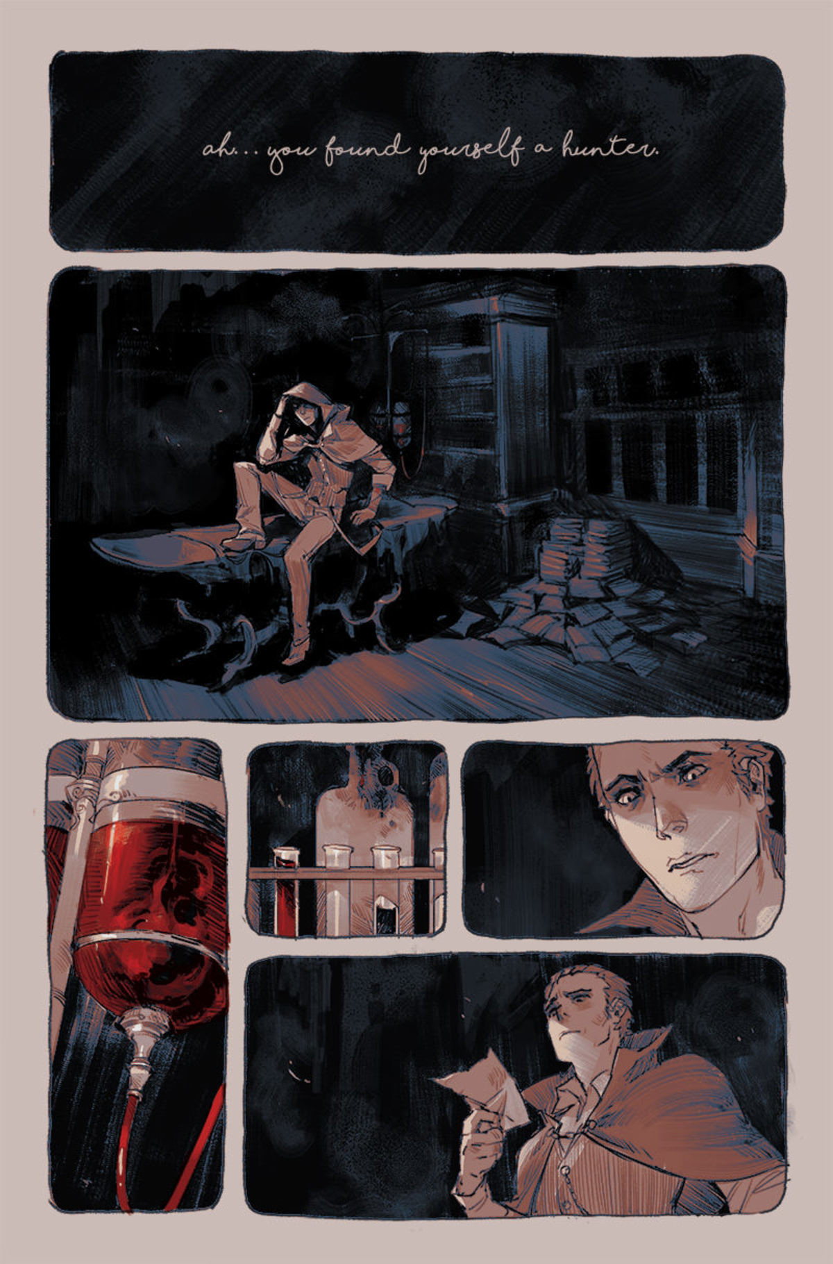 Epic comic- Echoes of Blood. https://monsterboysandrobots.tictail.com/ join list: AwesomeStuffMan (24 subs)Mention History.. ive never played bloodbourne, but im already having a feels trip