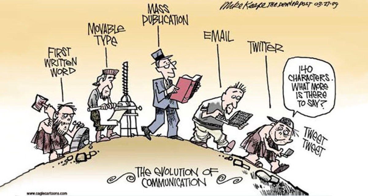 Evolution according to Boomers. .. Technology isn't making people dumb, it just allows dumb people to make themselves heard.