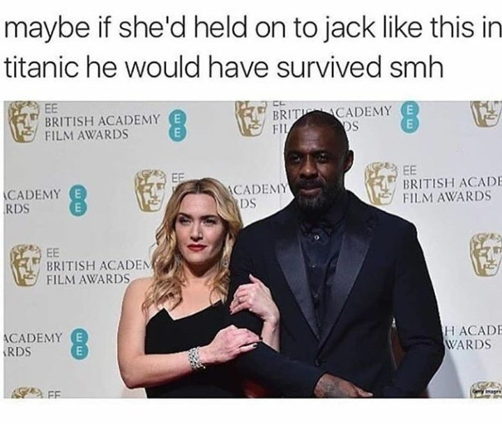 fabulous alert absent Rhinoceros. . maybe if she' d held on to jack like this in titanic he wand have survived sanh FILM AWARDS BRITISH . N 1 g FILM AWARDS L B'