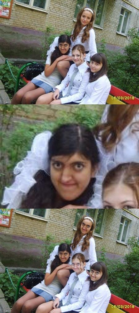 Face Swap. .. She looks like a retarded penguin xD