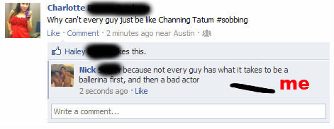 Facebook (3). Found this dumb bitch on my FB Don't look at them tags right dere.. Why want every guy Jug e I Channing TEEN throbbing Like -Comment 2 minutes any
