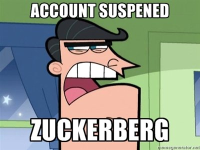 Facebook (9001). .. Oh hoh... Its funny because zuckerberg made facebook, but you used it like dinkleberg