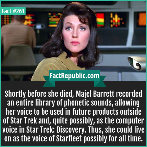 Facts that matter most !!. . Shortly before she died, Mam Barrett recorded an entire library of phonetic sounds, allowing her voice to be used in future product