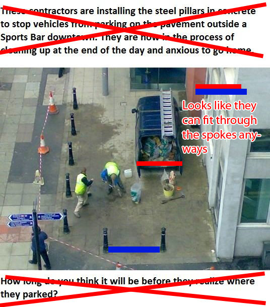 """Fail on top of Failed Construction. lolwut. r% I actors are installing the steel pillar ' Sports Bard . I ' er are n ' Ir"""" rooms of l-. up at the end of the day"""
