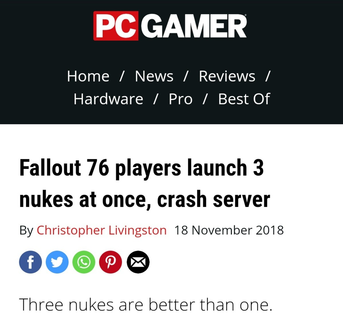 Failout. .. Some say a Commiefornian fired them at vault dwellers who had armed themselves.