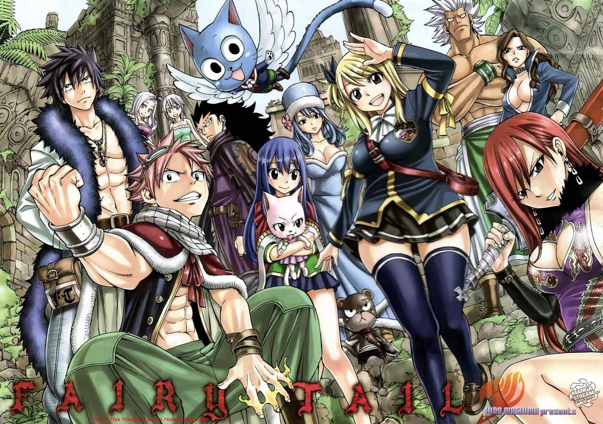 """Fairy Tail Cover. .. Who is editing these to make the """"main"""" female characters look fat?"""