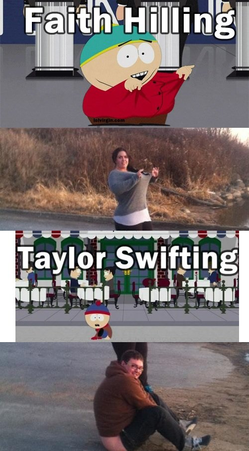 Faith Hilling and Taylor Swifting. .