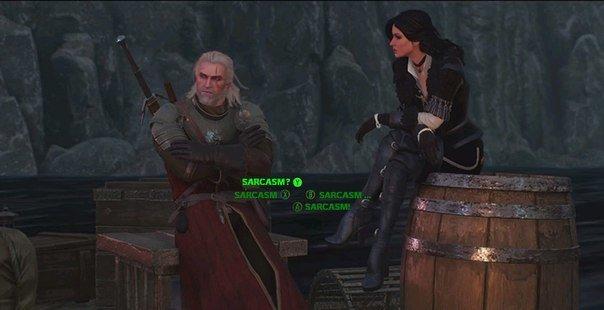 Fallout 4: Wild Hunt. when you make a douchebag run . attain? . in saunas 'lic- f