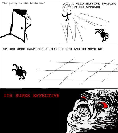 "Fck spiders. . Cc? - SPADER Mums. lo going tn the bathroom' ,5"". -=';' jjh WILD mama FUCKING"