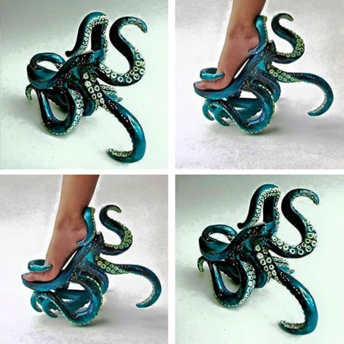 feet needed. .. That looks incredibly uncomfortable, one tentacle's even stabbing the side of her foot