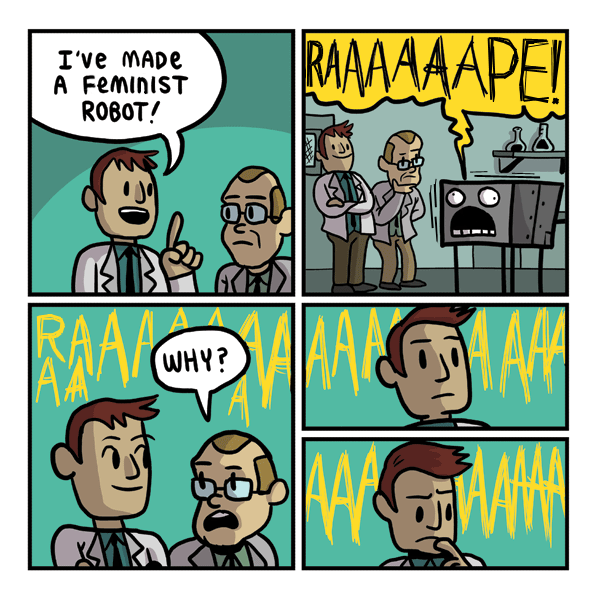 Feminist robot. .. Photoshop was a wise investment
