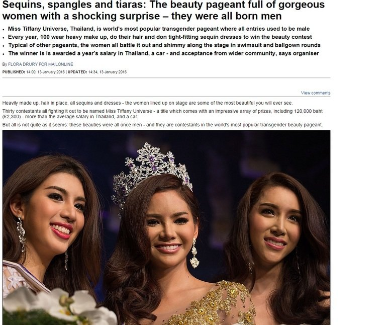 Finally a competition FJ can appreciate.. . Sequins, and tiaras: The beauty pageant full of gorgeous women with a shocking surprise — they were all born men Mis