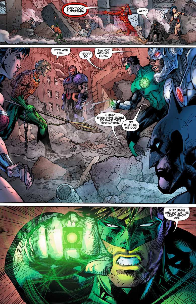 Focus on what's important. Justice League #5 2012 How he said 'I'm going to get Superman' at the end was so cool..