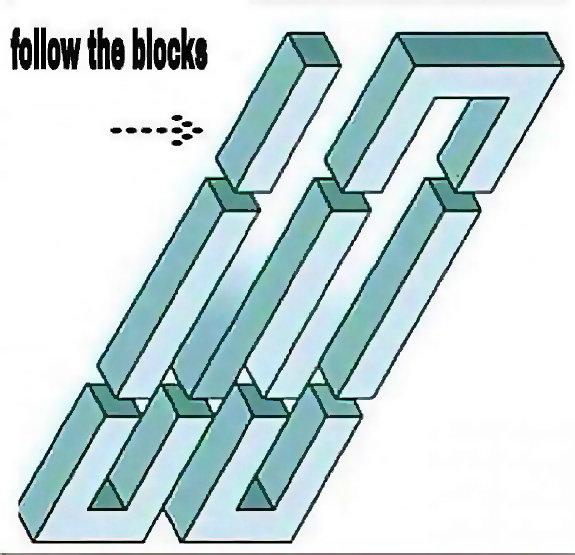 follow the blocks. . MINI the blocks. Imagine seeing this while drunk...