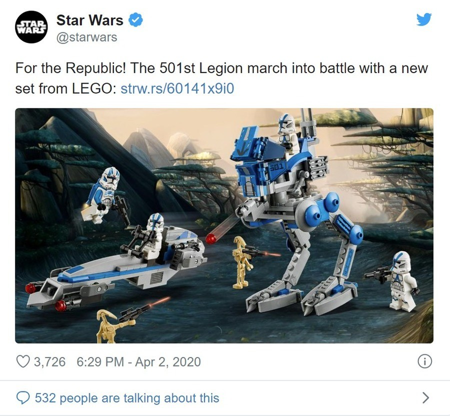 For the Republic. join list: StarWarsStuff (289 subs)Mention History.. The price mark up for licensed Starwars sets is ridiculous. As awesome as it is it won't be shocking if this set is roughly 30 bucks