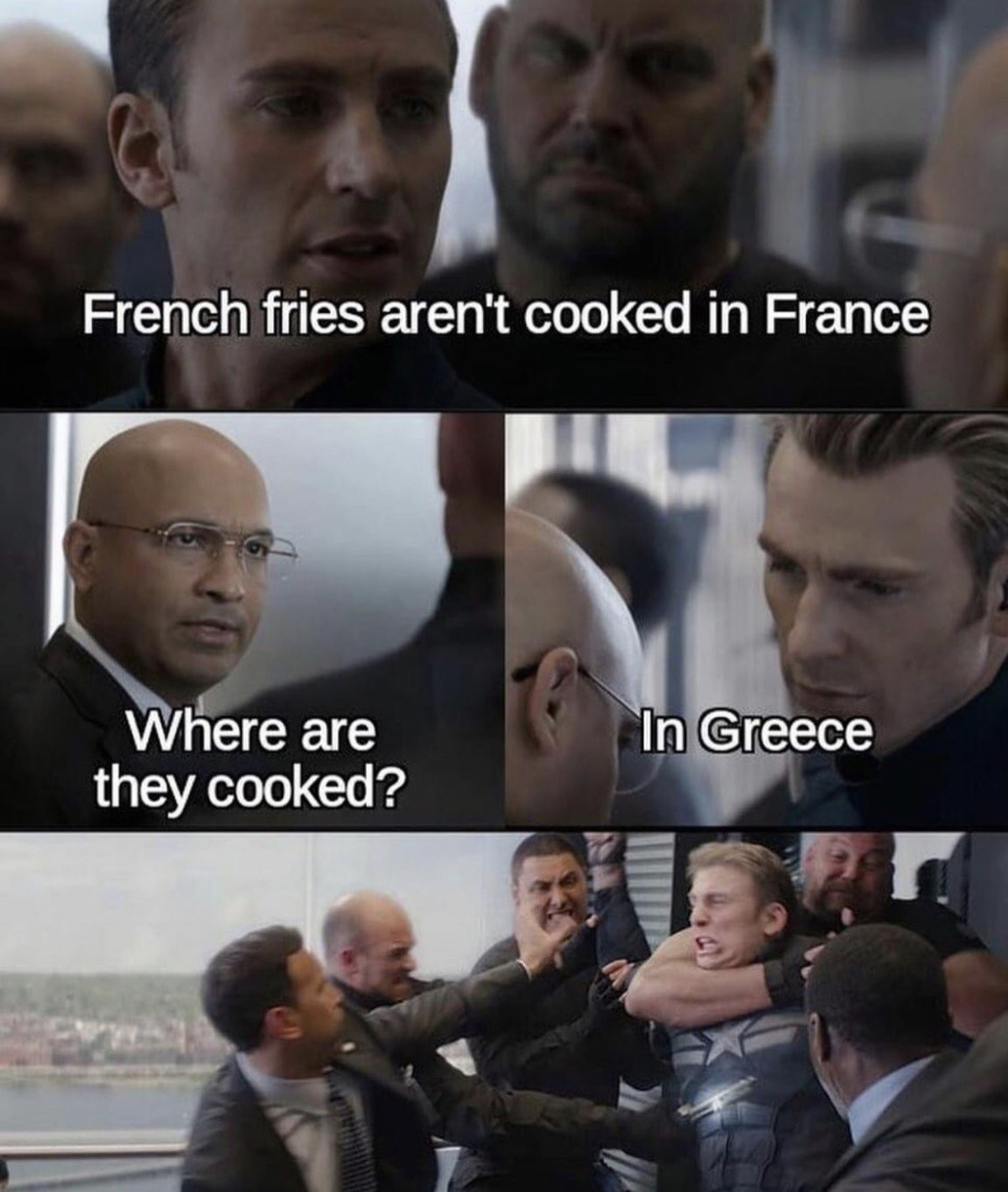 French fries. .. the best fries are made in oxen fat