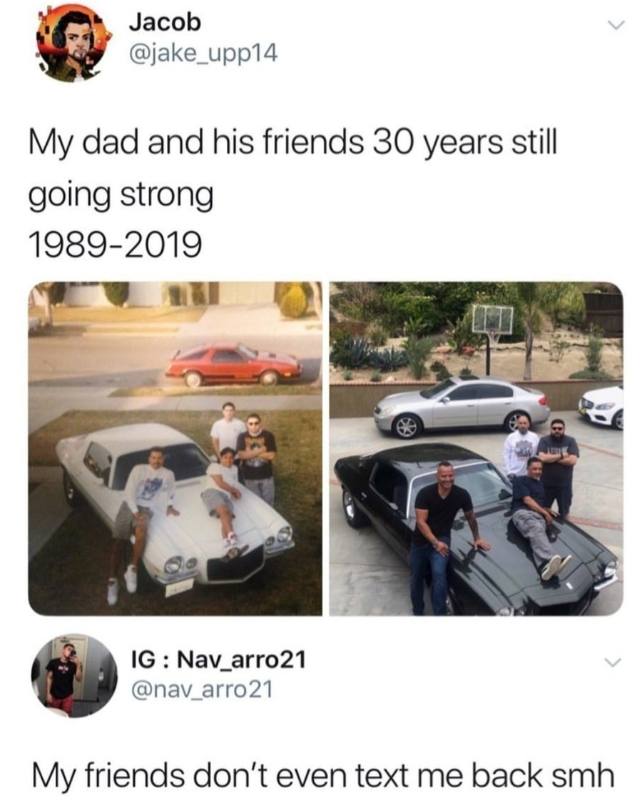 """friendship is. .. """"I swear to god Pablo, if we're doing this picture, you are going to sit VERY GENTLY on that hood, no dukes of hazard you did like in 1989. I dont want you"""