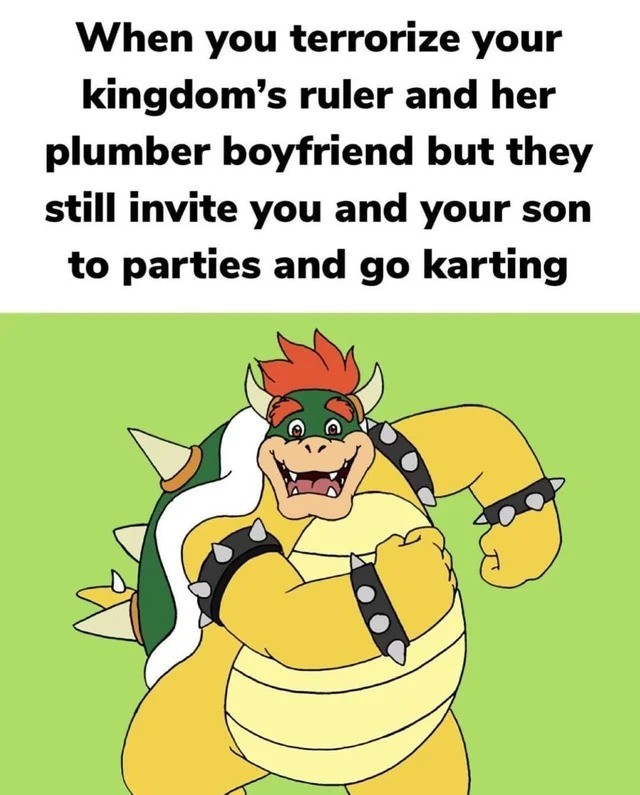 fun. .. A good meme, but he is actually the ruler of a separate kingdom.