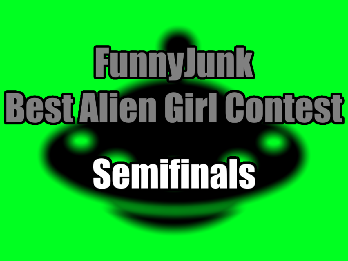 """FunnyJunk Best Alien Girl Contest: Semifinals. Quarterfinals: """"Blue tiddy alien girls are gone, i am disappointed in all of you."""" """"Celeste lost t"""