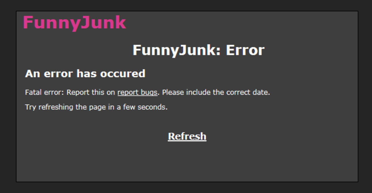 Funnyjunk's new logos. Hey Toshiro, do you have a mention list for stuff like this yet?. Funnyjunk: Error An error has emu red Fatal error: Report this on rem: