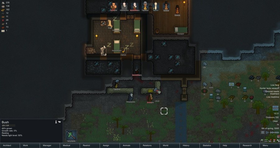 Funnyjunks Rimworld survival, pt 3. LAST TIME: we dug out some sleeping rooms, planted crops, built defenses and freed a female sex slave. After killing the sex