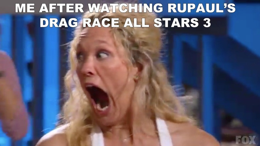 "GAGGING FOR MORE!. . ME AFTER . llt' DRAG"" RACE ALL STARS 3"