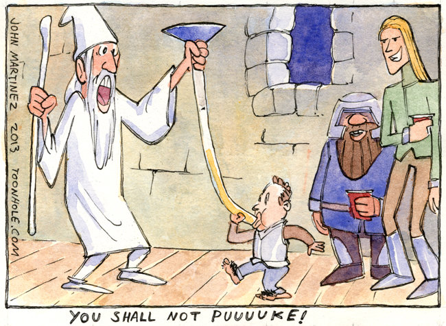 Gandalf says. preview of the latest Hobbit movie. www.ToOnHoLe.com.