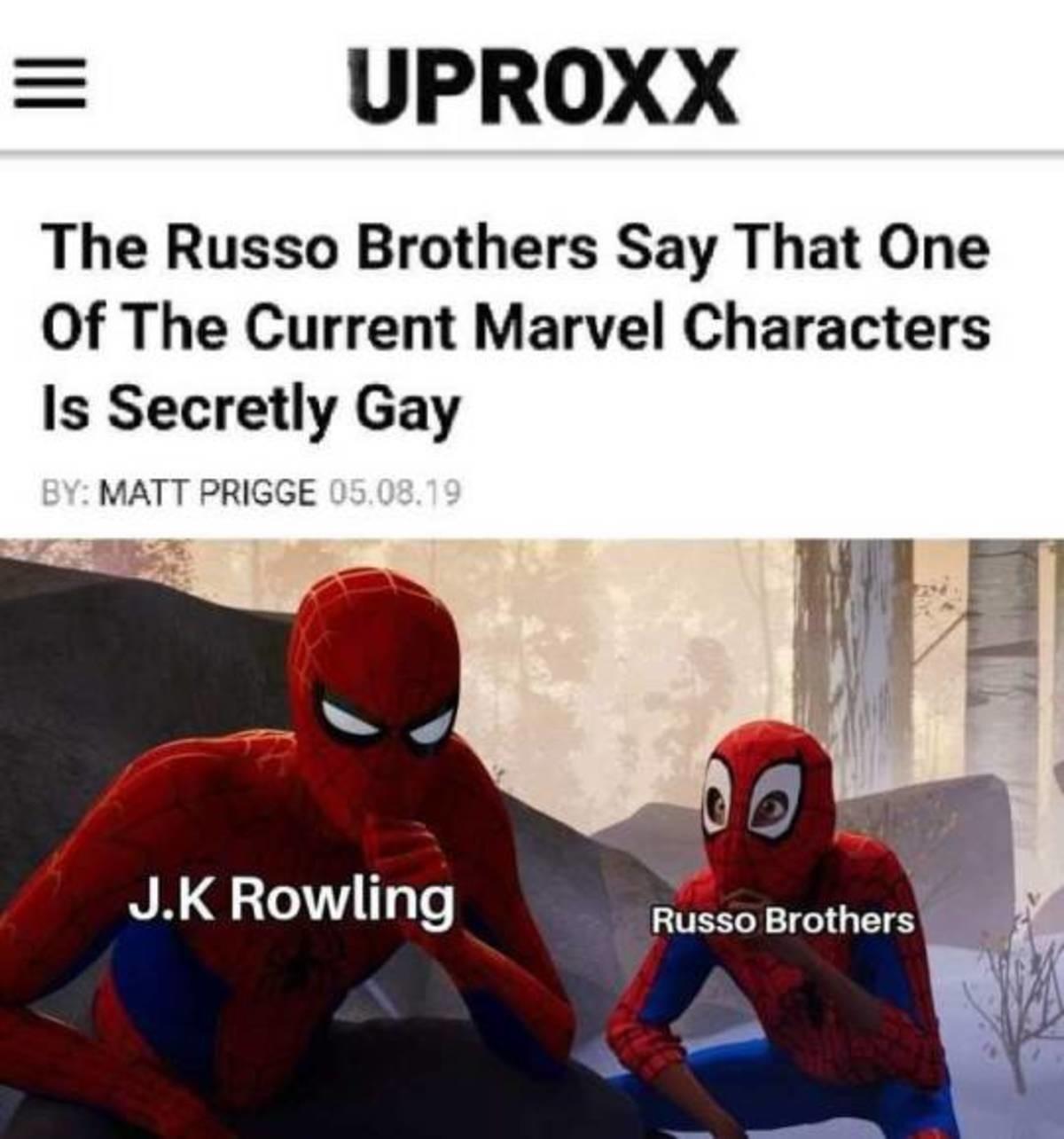 Gay. .. Captain Marvel likes other men?