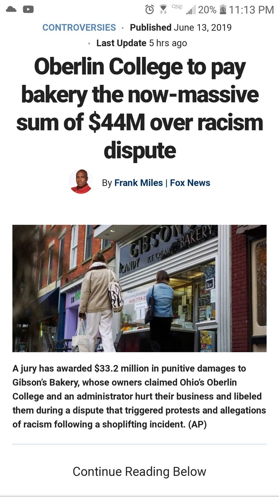 Get woke go broke 2: jigaboo bogaloo. https://www.foxnews.com/us/oberlin-college-to-pay-bakery-the-now-massive-sum-of-more-than-44m-over-racism-dispute should b