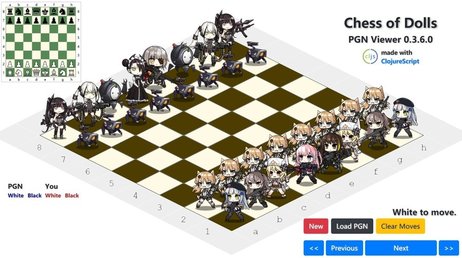 Girls' Frontline chess. join list: GirlsFrontline (510 subs)Mention Clicks: 77638Msgs Sent: 268080Mention History.. IDW best frontline waifu~