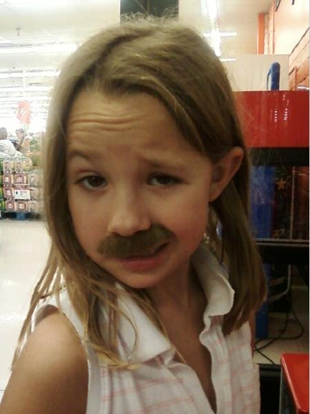 Girly Moustache. .. Holy its Tom Selleck