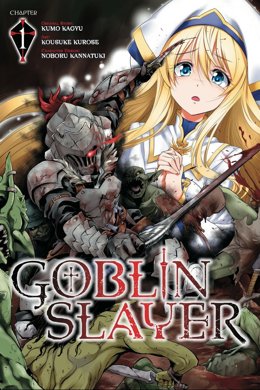 Goblin Slayer Chapter 1 part 1. This was written by Kumo Kagyo from the LN and illustrated by Noboru Kannatsuki, yet this Manga was licenced and published by Sq