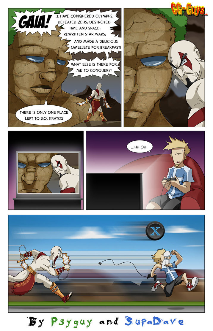 god of war comic. a god of war comic i found while surfing the internet i just thought it was funny and should be shared with the world enjoy please dont forget