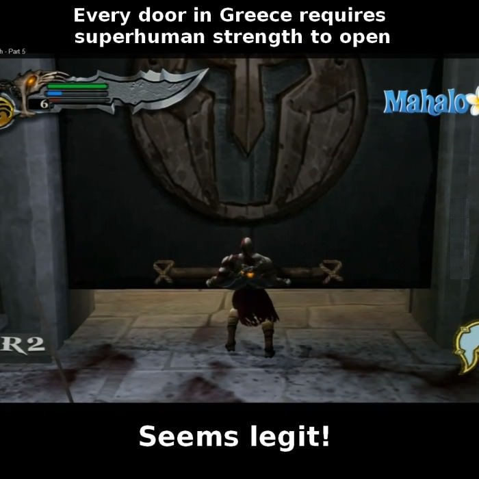 God Of War Logic. Considering this, Kratos should be the only one in Greece who can open doors. Every deer in Greece requires superhuman strength to open f (ill
