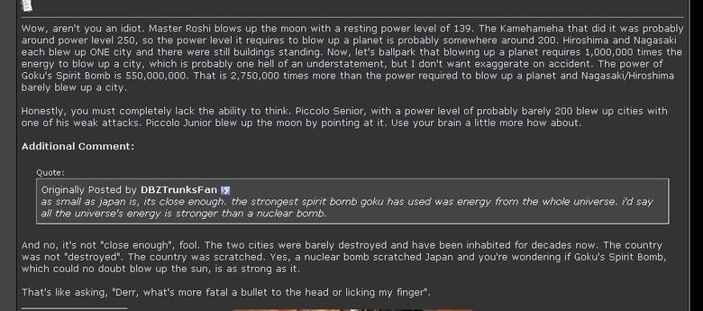 Goku spirit bomb or nuke. A forum discussing what is stronger: Goku's spirit bomb or a nuke . Wow, aren' t mu an idiot, Master Roshi blows up the moon with a re