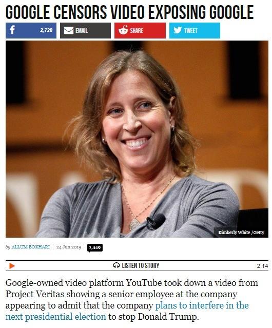 Google Censorship. https://www.breitbart.com/tech/2019/06/24/google-censors-video-exposing-google/ join list: NSFSJW (389 subs)Mention Clicks: 66672Msgs Sent: 2