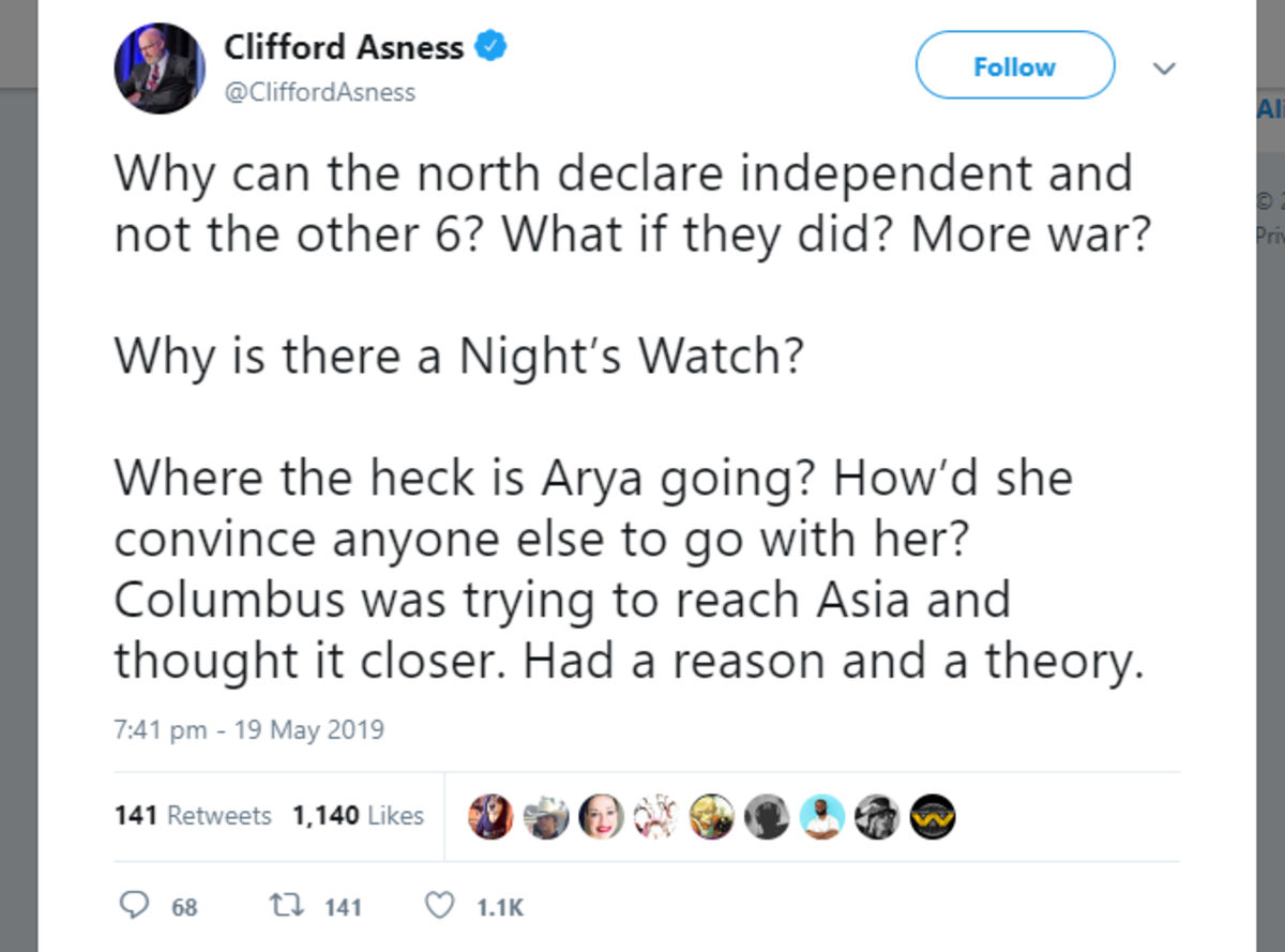 """GOT some questions. .. """"To reach the west, you must go east."""" GRRM has stated that the world of ASOIAF is round. People have been wondering what is west of Westeros for mill"""