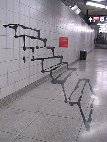 Graffiti Stairs Illusion. .. thats scary dawg