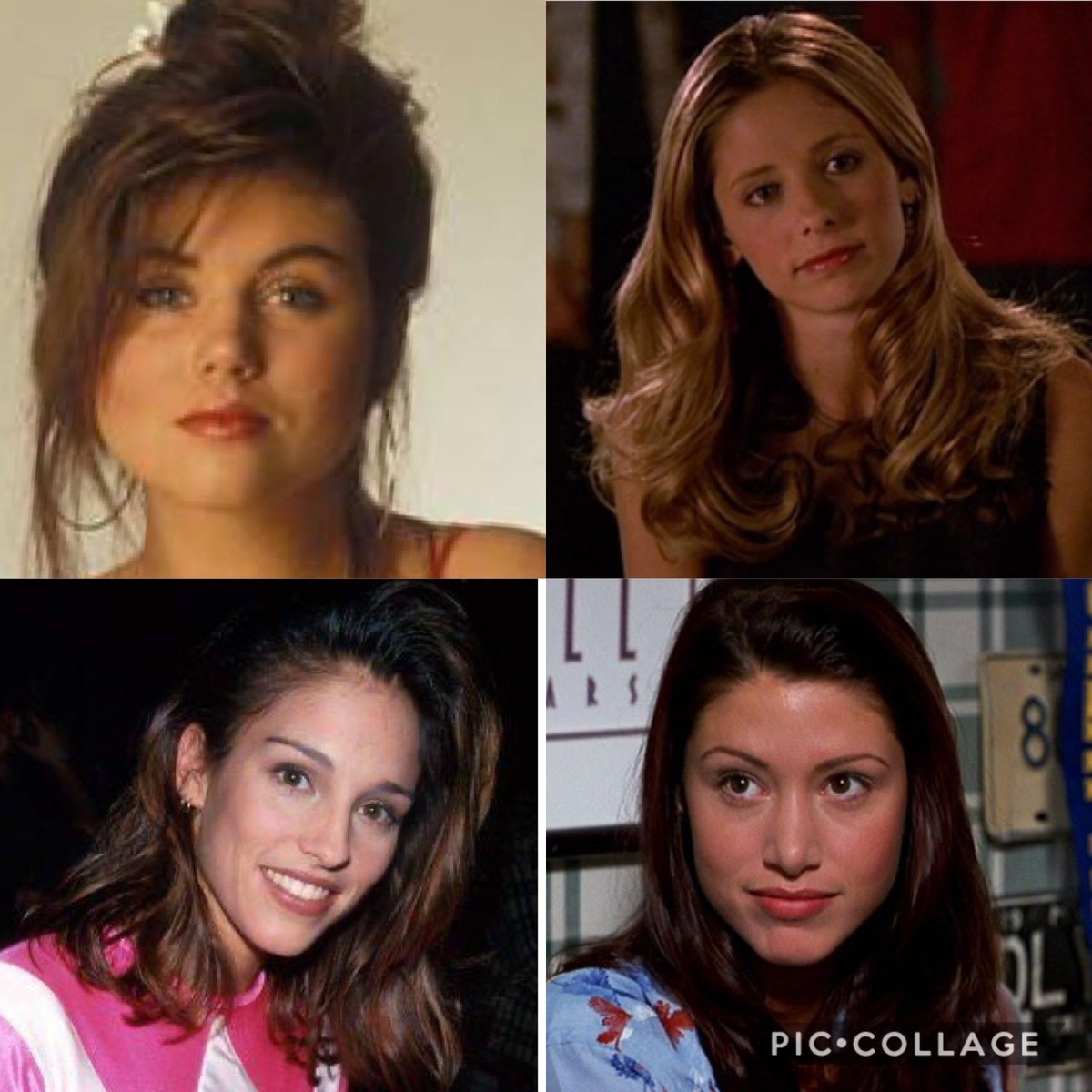 Growing up as a boy in the 90s. You probably had the hots for most of these women.. And were is the young Allyson Hannigan? Shame on all of you