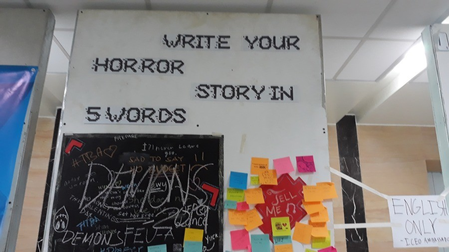 """grubby careless Redditor. .. 5 word horror story? lets me try """"The void is getting closer"""" """"The moon has started hatching"""" """"My bones snapped, he laughed."""" &quo"""