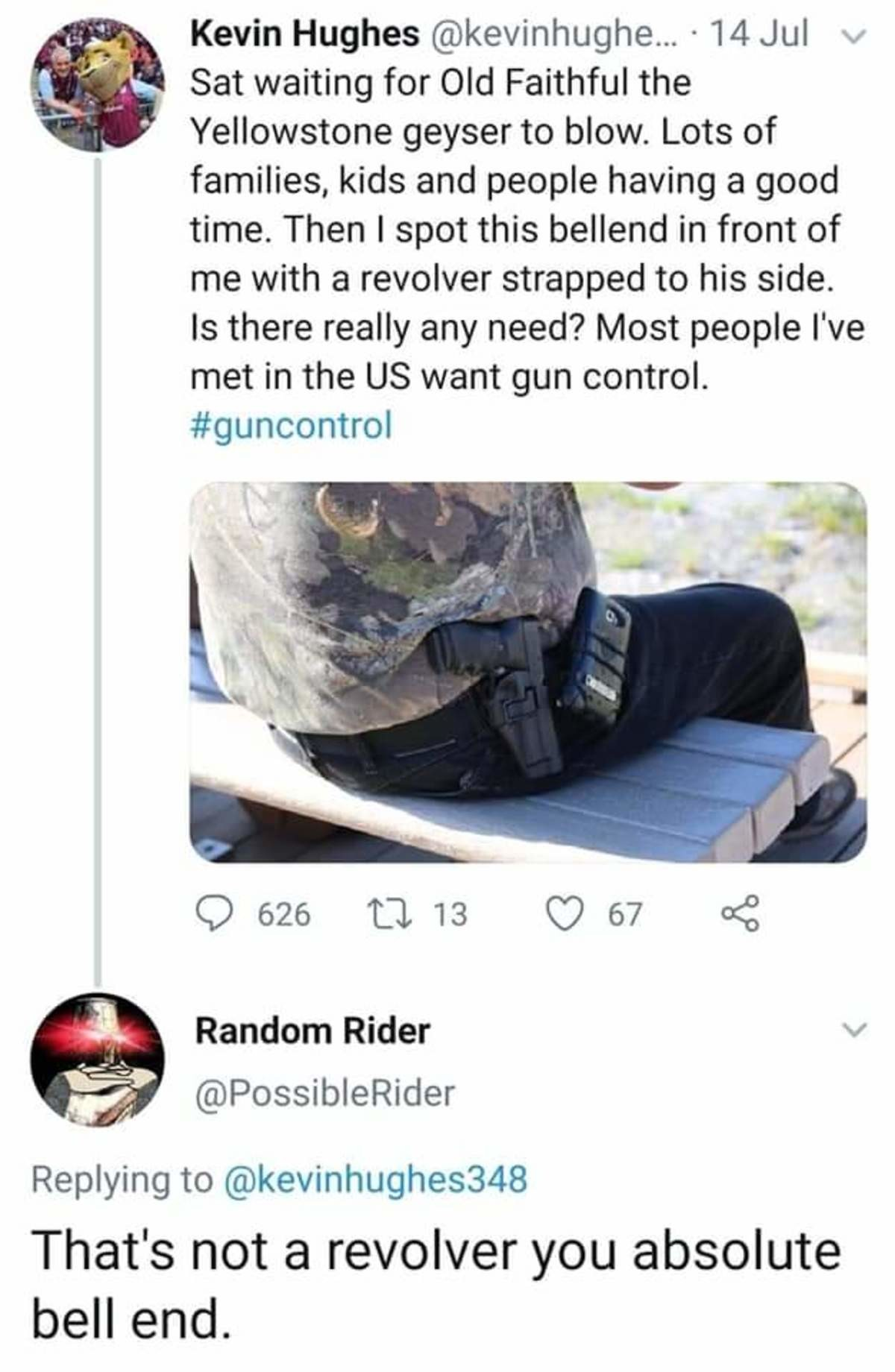 gun rol. .. >Most people in the US want gun control I'll call for 500 Alex.