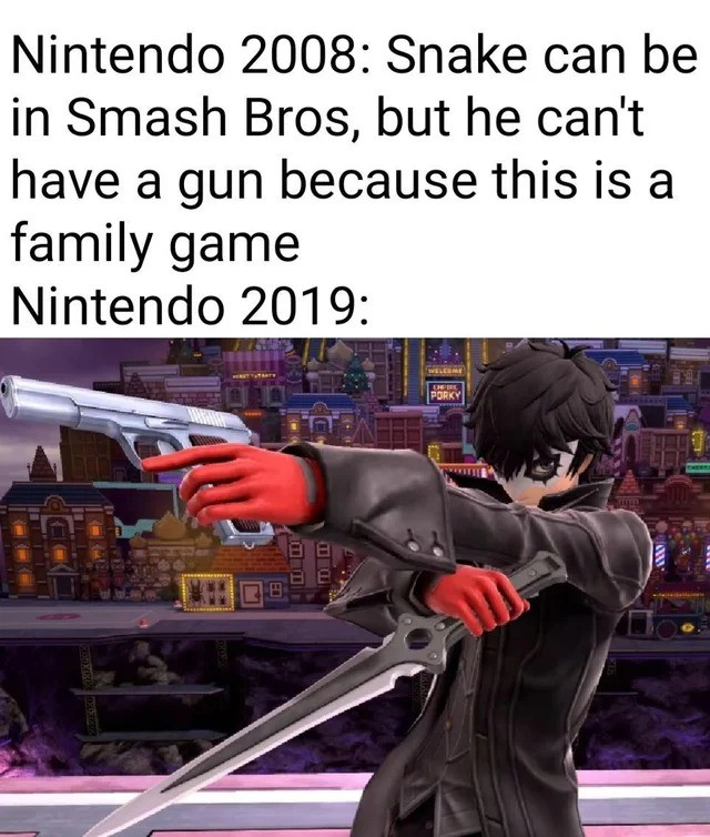 gun. .. IKR. Also Kirby has access to more guns than the rest of the cast.
