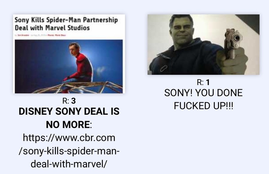 gunttvttt. .. Does Sony really think they're gonna be able to make a movie as good as Marvel? History says No!