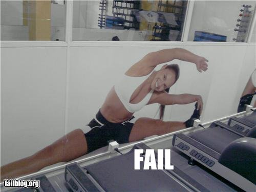 gym fail. imagine if it was a guy.. This is a penis trap... beware men....
