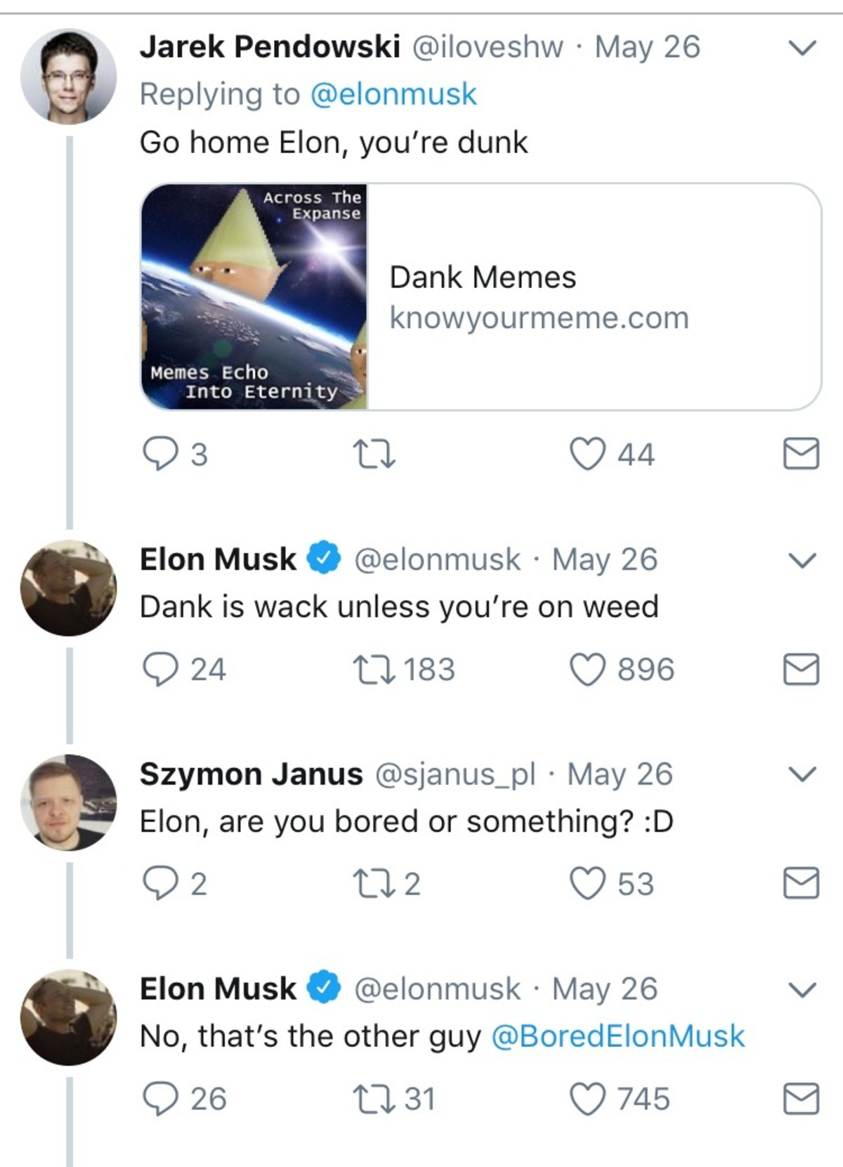 hallowed cynical Starling. Is this even real life anymore?. Replying to @ Go home Hon, you' re dunk Dank Memes Echo l Into Eternety - Elon Musk (iii) . IN/ lay