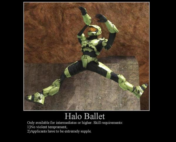 Halo Ballet. .. lol dead never looked so beautiful