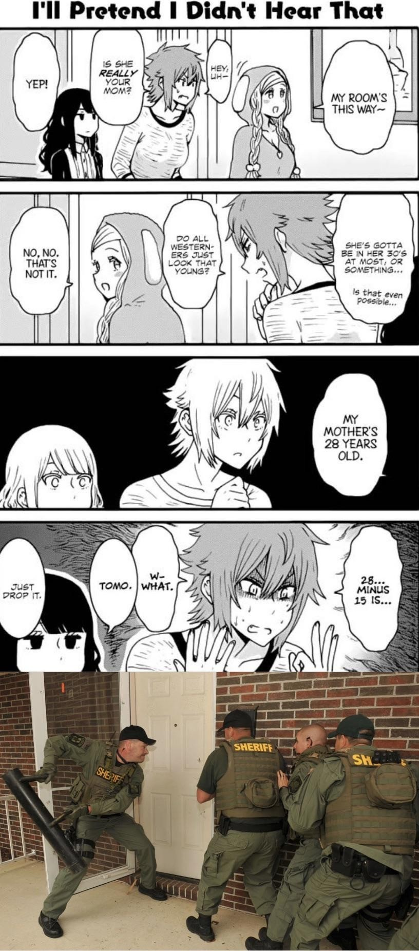 hapless confused Barracuda. .. The father was 16 and the mother was a piece of jailbait with tits the size of an 18-year old's. https://mangakakalot.com/chapter/tomochan_wa_onnanoko/chapter_3