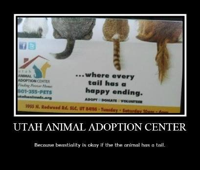 happy ending. . If mp. I' ll! nullity. UTAH ANIMAL ADOPTION CENTER Ber. . hsa. rt. is okay if the the hris tail.. The that have to do with bestiality?