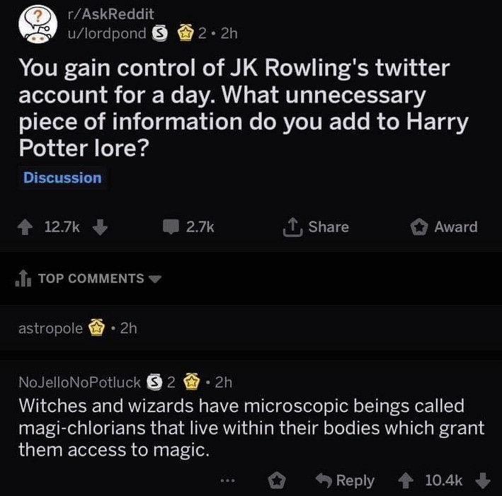 Harry Potter Lore. What would you add?.. The sorting hat was briefly captured during the second world war and vital to the war effort by sorting and sending certain witches and wizards to the concentra