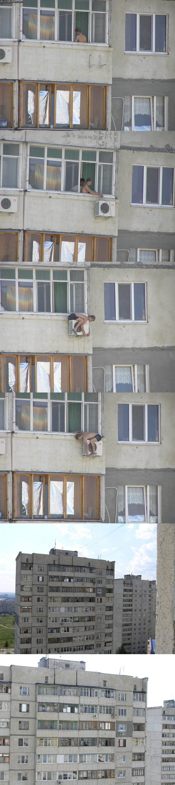 """High. <a href="""" target=_blank>more-funny.blogspot.com</a>.. hell, not even a safety rope, that dudes nuts."""